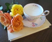 RESERVED -  Vintage 'Mother' Tuscan Tea Cup Soy Candle