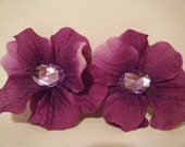 Hair Accessories  PLUM Purple Flower Hair Clip  Barrette