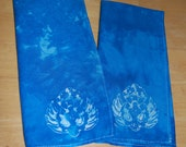 Set of 2 Batik Stamp Lotus Flower Napkins