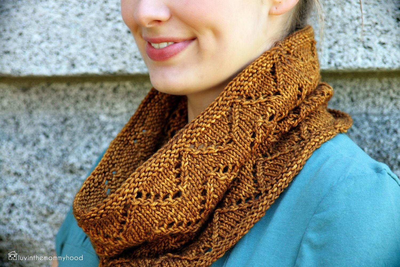 Lace Zig Zag Scarf Knitting Pattern : Downton cowl knitting pattern chevron infinity zig zag lace pdf from veryshannon on etsy studio