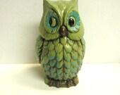 Vintage Owl Bank 1960s Avocado Green