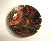 Vintage Enameled Copper Ashtray, Handcrafted by Bovano of Cheshire