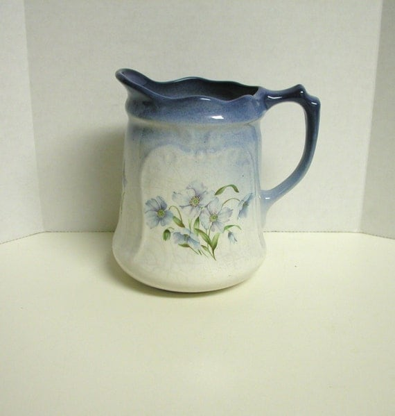 Reme Collection Blue Floral Pitcher, Made in England