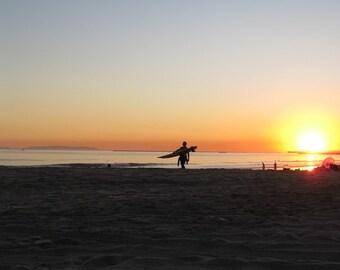 sunset surf // Seal Beach, CA // surfing // sunset // beach // fine art print