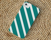 Diagonal Stripe iPhone Case in Teal
