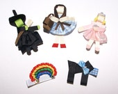 Wizard of Oz Hair Clip -- Choose Any ONE -- Dorothy - Toto - Glinda - Wicked Witch - Rainbow