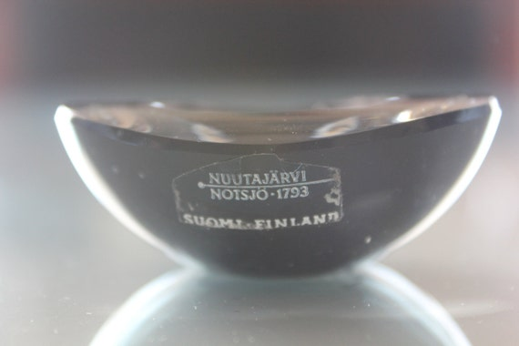 SALE 25% Chestnut Bowl Kaj Franck 1965 Finland Nuutajarvi Notsjö