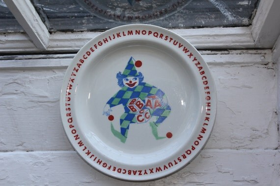 "Vintage childrens dinner plate ""Joker"" by Arabia Finland"