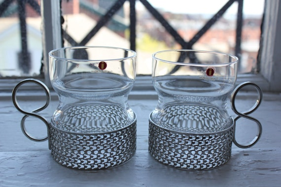 Pair of  vintage Tsaikka glass's by Iittala Finland