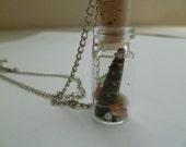 Hawaiian Sea Glass Bottle Necklace