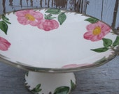 Cottage Chic Franciscan Desert Rose Compote