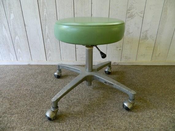 Vintage Rolling Stool Doctor Medical Dental Chair Industrial