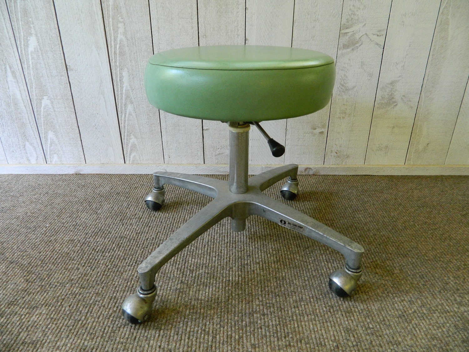 Vintage Rolling Stool Doctor Medical Dental Chair Industrial