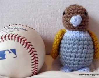 Stuffed Toy Amigurumi Parakeet Bird