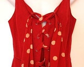 sizzling red vintage (80's) 'finity studio' vest top