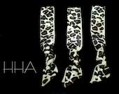 Set of 3 Elastic Hair Ties -  Leopard print