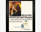 "Kent Cigarette Ad - 1965 Life Magazine - ""Light Up A Kent, and You've Got A Good Thing Going"""