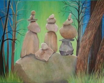 """Balance III Acrylic Painting 30""""x40"""""""