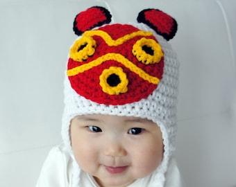 Mononoke Hime Hat, Crochet Baby Hat, Princess Baby Hat, photo prop, Inspired by Princess Mononoke