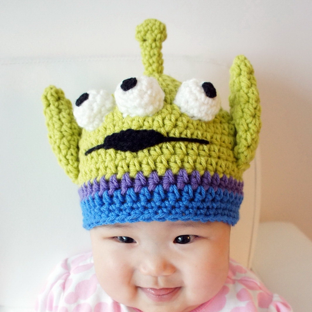 Toy Story Alien hat Crochet Alien Hat Monster by ...