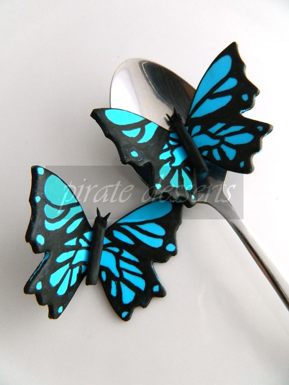 Cake topper MALIBU Blue Monarch Butterfly by PirateDessert