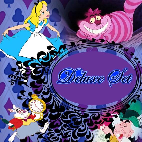 Edible Cake Decorations Alice In Wonderland : Edible Alice in Wonderland Cupcake toppers Deluxe Un