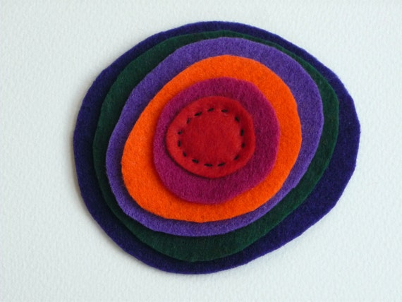 Colorful Felt Brooch