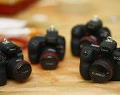 Made-to-order Miniature D-SLR camera replica - handmade polymer clay pendant