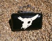 Latex Clutch Handbag: 'Desert Of Death' with knuckle duster handle