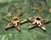 Hand Crafted Silver Star Pendant Earrings