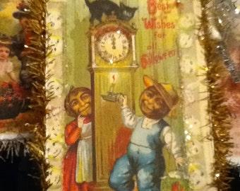 Vintage Halloween Postcard Decoration