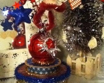 Christmas in July Patriotic Santa
