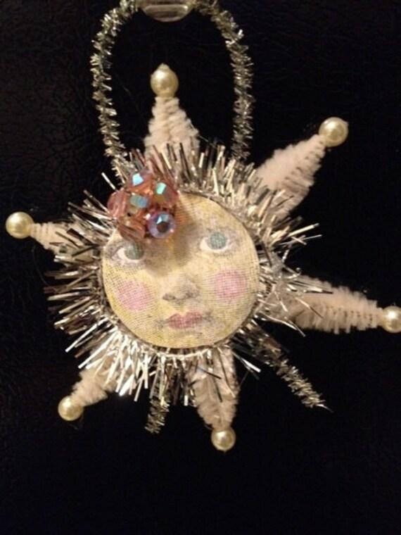 Moonface Chenille Vintage-Style Ornament