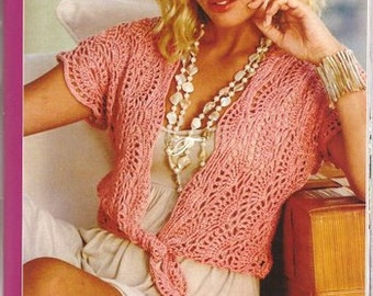 Pattern only - a crochet spring/summer/fall blouse cardigan