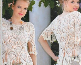 MADE TO ORDER - a crochet spring/summer/fall blouse cardigan