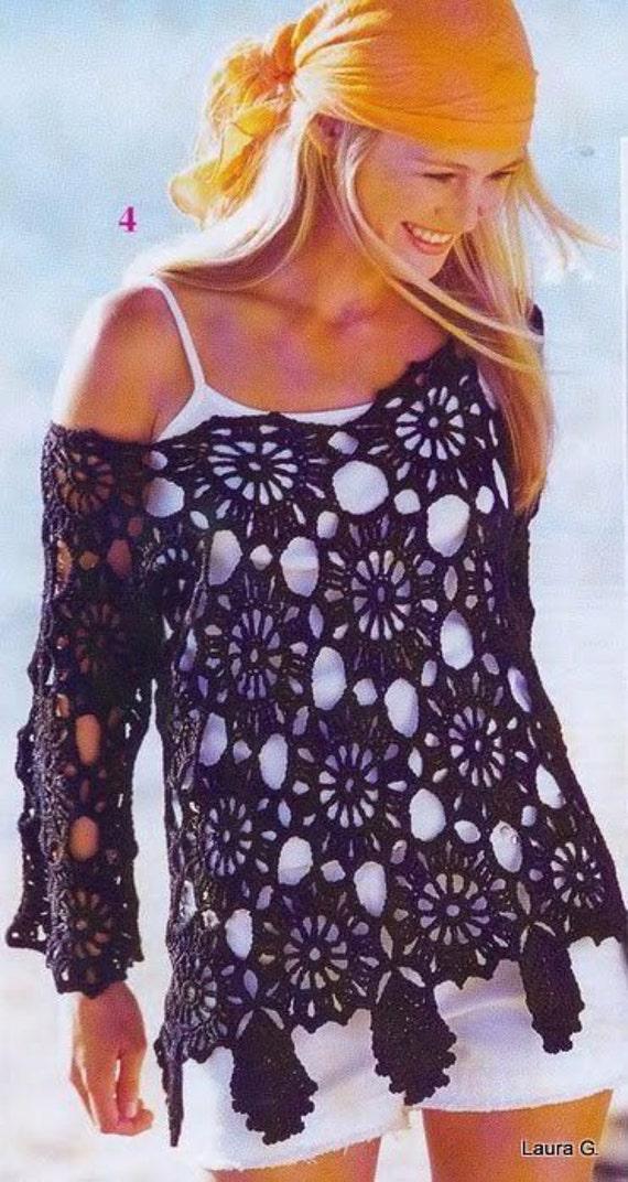 Asdidy Pdf Crochet Top Blouse Pattern Only Crochet Summer Top
