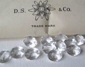 12 Vintage Clear Swarovski Oval Crystals 10x8mm Art. 4140