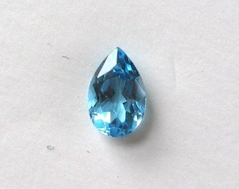 Faceted Blue Topaz Tear Drop Pear Stone 8x5