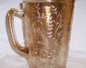 Jeannette Depression Glass FLORAGOLD LOUISA 64 Ounce WATER Pitcher