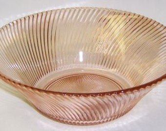 Federal Depression Glass Pink DIANA 9 Inch Diameter Salad or Vegetable BOWL