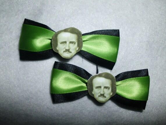 Edgar Allan Poe Hair Clips