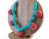 Statement Turquoise Necklace - Mexican Fabrics