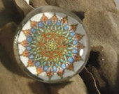 "colorful mandala, 1.25 "" magnet print of original drawing by Pabsie."