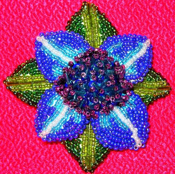 3-D Dalia Brooch, Pin or Pendant