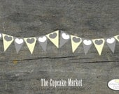 PRINTABLE Party Banner - Yellow and Gray Bridal Shower - The Cupcake Market