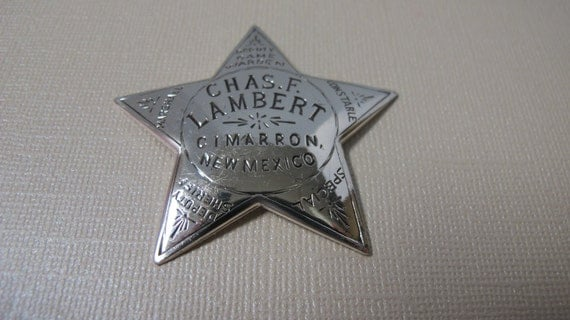 """Sterling Silver Collectible """"Chase Lambert"""" Deputy Badge 10.4 grams"""