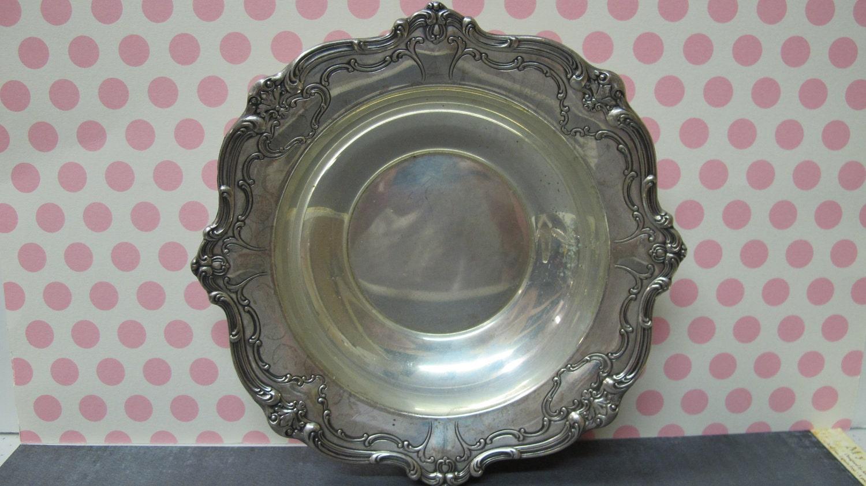 Antique Gorham Sterling Silver Scalloped Edge Round Decorative