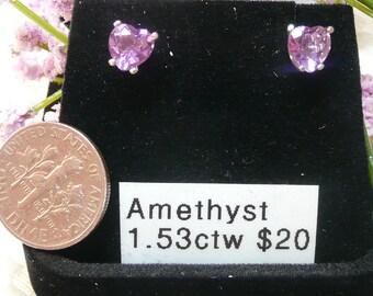 Amethyst Earrings in Sterling Silver