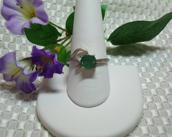 Emerald Ring in Sterling Silver