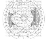 Good Earth Mandala - I Dig Digi Stamp
